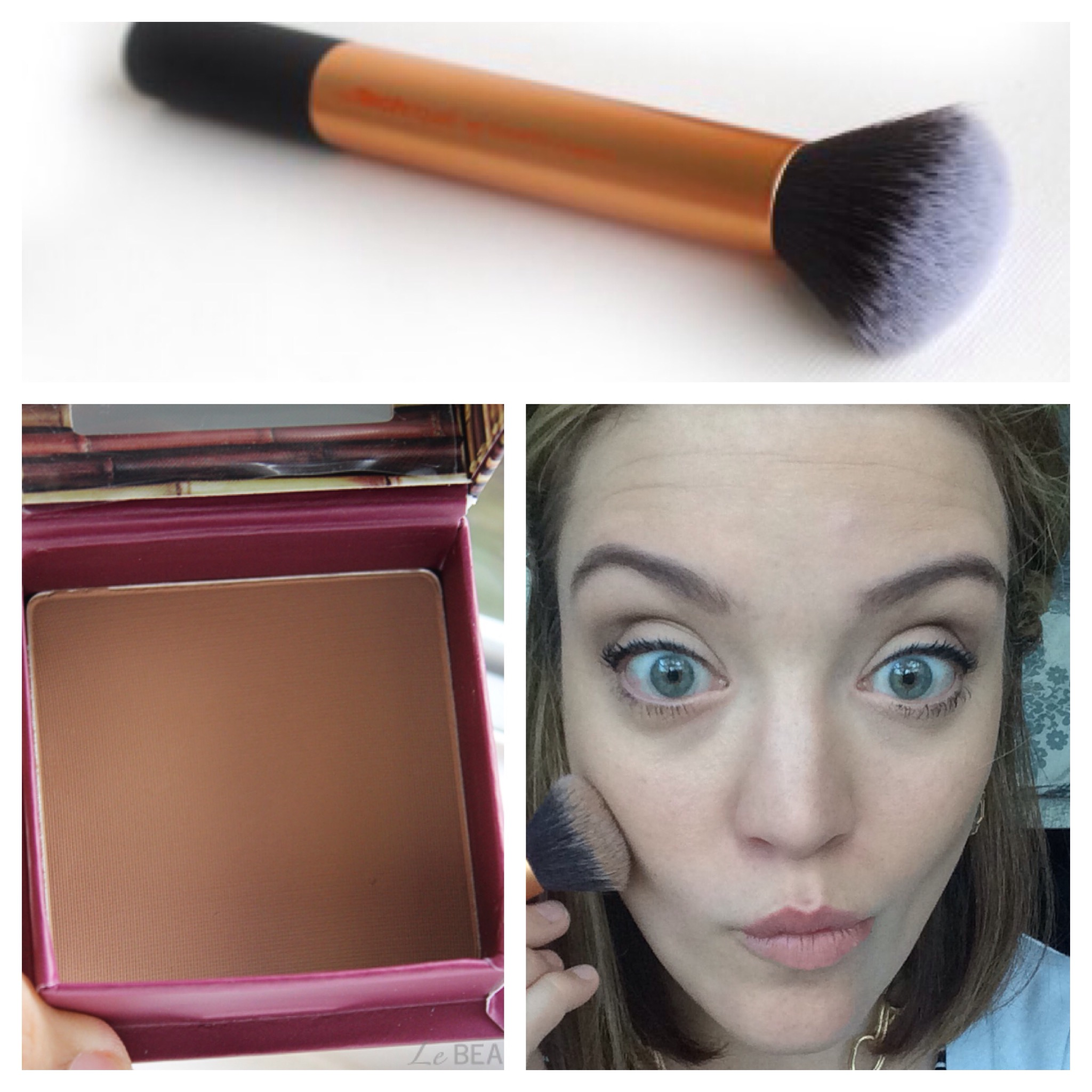 My everyday makeup look lollies and lattes its a bronzer that is matte not shimmery its also more brown than most bronzers you never want to use an orangey shimmery bronzer for contouring ccuart Images