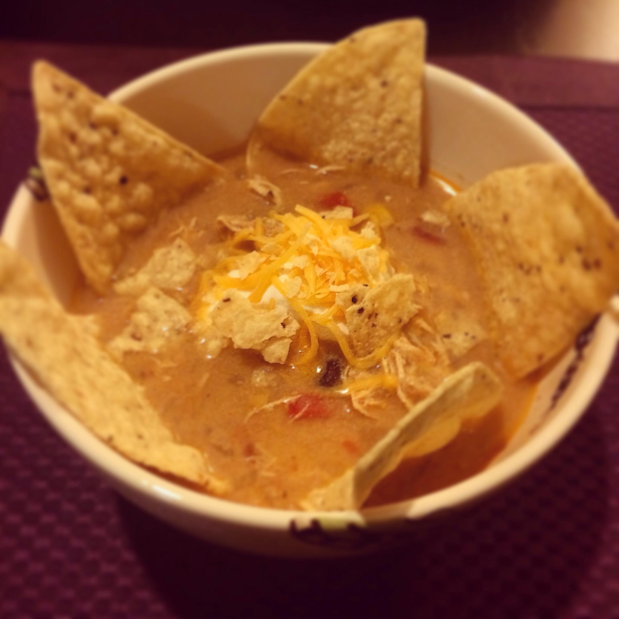 Crock Pot Chicken Enchilada Soup Recipe | Lollies and Lattes